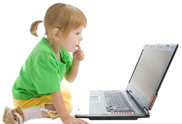 Young girl with laptop